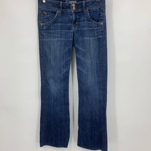 Hudson women's jeans 28 flap pocket straight leg